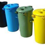 سطل زباله پلاستیکی درب دار بزرگ