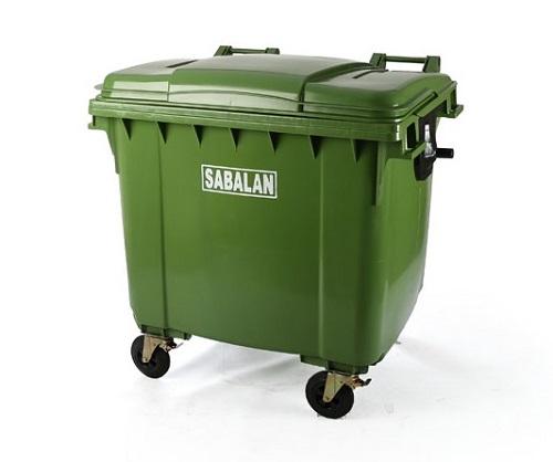 سطل زباله پلاستیکی بزرگ مخزنی