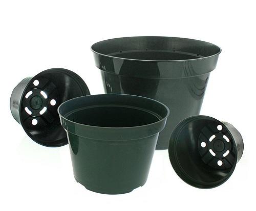 گلدان پلاستیکی گلخانه مشکی
