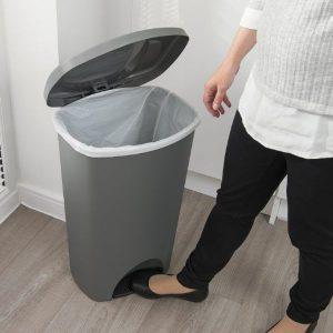 انواع سطل زباله پلاستیکی درب دار