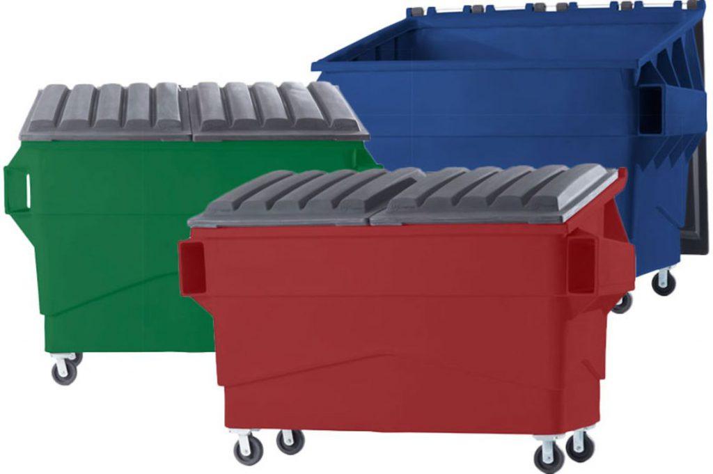 سطل زباله پلاستیکی شهری چرخدار