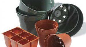 گلدان پلاستیکی بازیافتی گلخانه ای