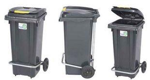 سطل زباله پلاستیکی چرخدار ایرانی